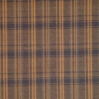 Dark Brown Plaid Bed Skirt / Dust Ruffle by Patch Magic