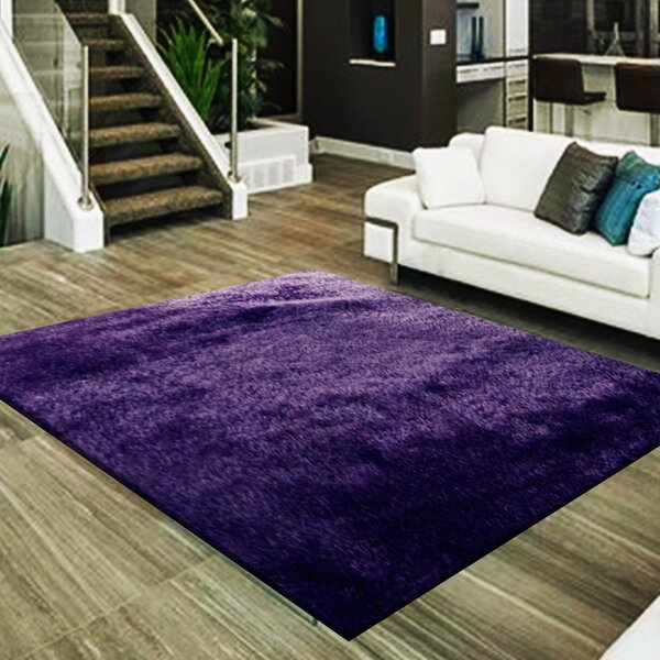 Marcello Hand-Tufted Purple Area Rug by Latitude Run