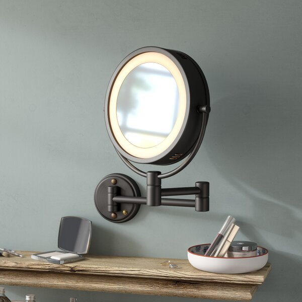 Sedgley Dual Sided Halo Makeup/Shaving Accent Mirror by Darby Home Co