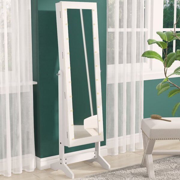 Garica Free Standing Jewelry Armoire with Mirror by Winston Porter