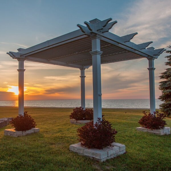Avalon 10 Ft. W x 10 Ft. D Vinyl Pergola by New England Arbors