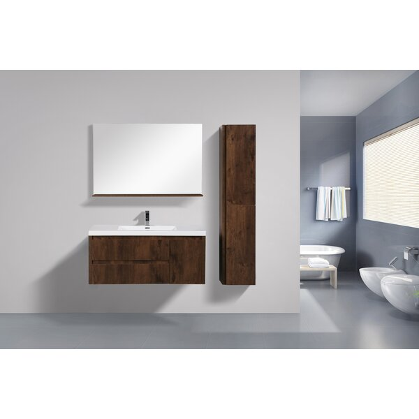 Haenggi 47 Wall-Mounted Single Bathroom Vanity Set by Ivy Bronx