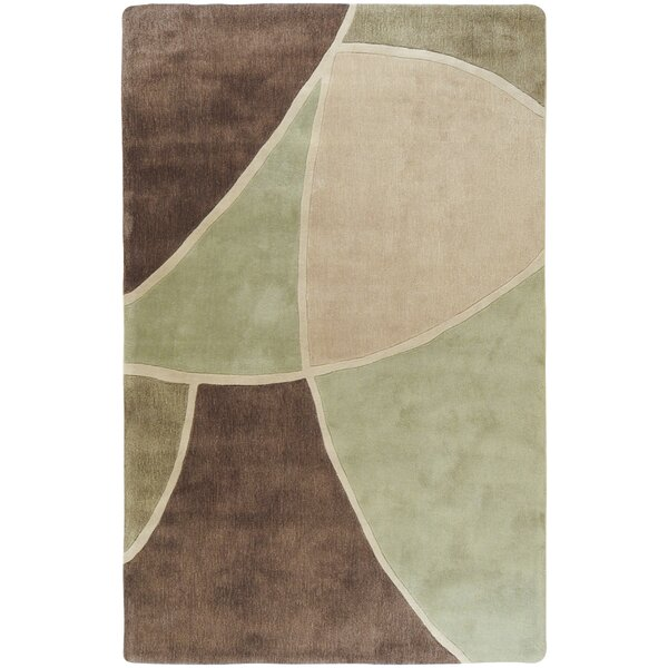 Deveau Brown/Green Rug by Ebern Designs