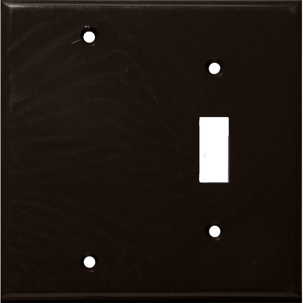 2 Gang 1 Toggle 1 Blank Lexan Wall Plates Blank in Brown by Morris Products