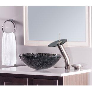 Read Reviews Ragnatela Glass Circular Vessel Bathroom Sink By Novatto