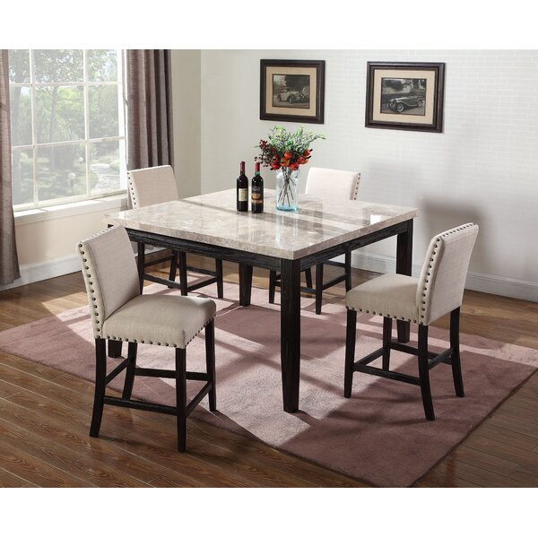 Amoret 5 Piece Counter Height Dining Set by Alcott Hill Alcott Hill