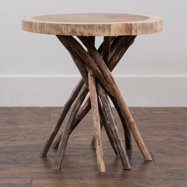 Stilwell Solid Wood Tree Stump End Table By Loon Peak