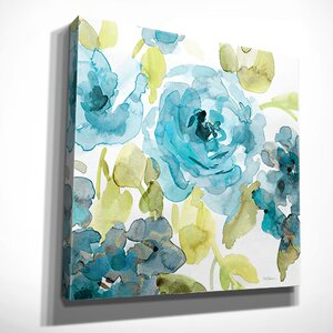 'Belle's Blue II' by Carol Robinson Painting Print on Wrapped Canvas by Wexford Home