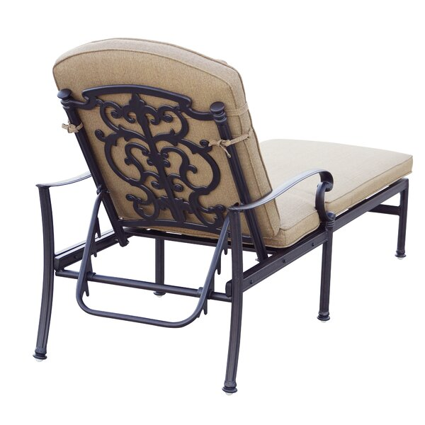 Palazzo Sasso Reclining Chaise Lounge with Cushion by Astoria Grand Astoria Grand