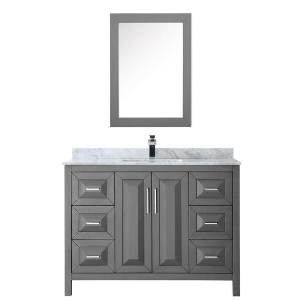 Daria 48 Single Bathroom Vanity Set with Medicine Cabinet by Wyndham Collection