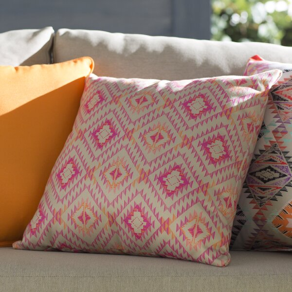 Demina Feathered Arrows Indoor/Outdoor Throw Pillow by Mistana