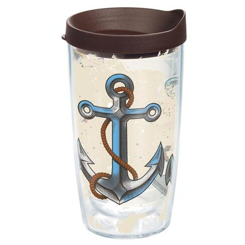 On The Water Nautical Anchor Plastic Travel Tumbler by Tervis Tumbler