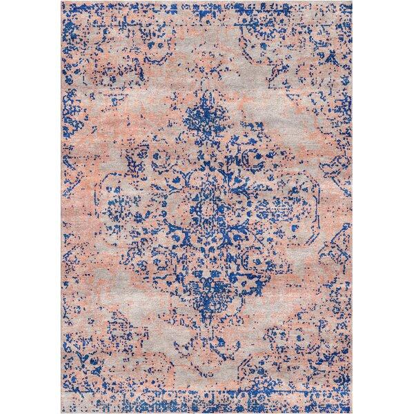 Aliza Handloom Blue/Sisal Area Rug by Bungalow Rose
