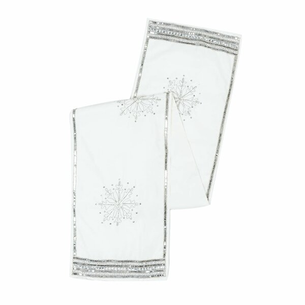 Hobson Banded Snowflake Table Runner by House of Hampton