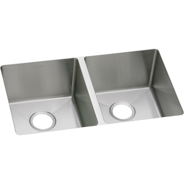 Crosstown 31L x 19W Double Basin Kitchen Sink by Elkay