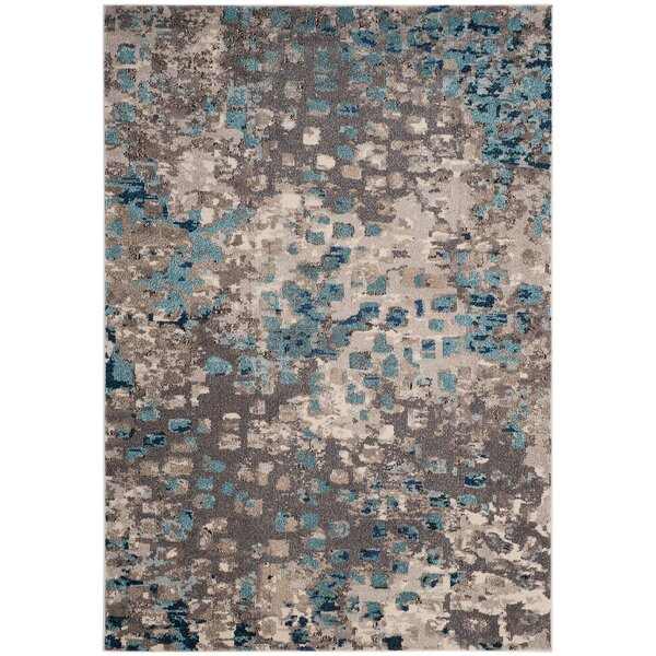 Annabel Gray & Light Blue Area Rug by Bungalow Rose