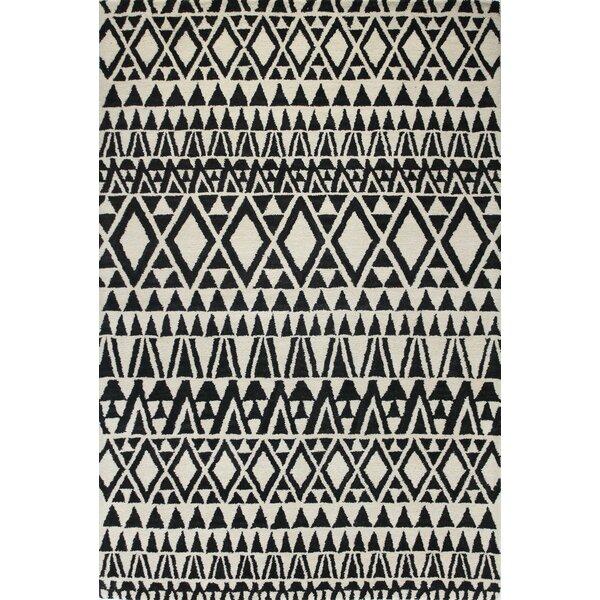 Coldagh Wool Ivory/Black Area Rug by Corrigan Studio