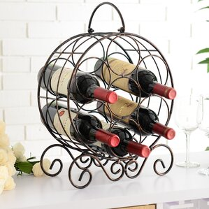 Archer Metal 7 Bottle Tabletop Wine Bottle Rack by Charlton Home