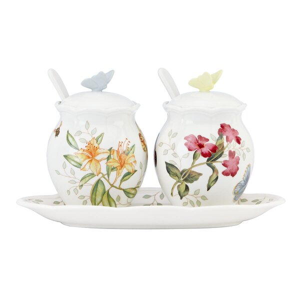 Butterfly Meadow 7 Piece Condiment Set by Lenox