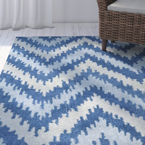 Fairlane Blue Area Rug by Rosecliff Heights
