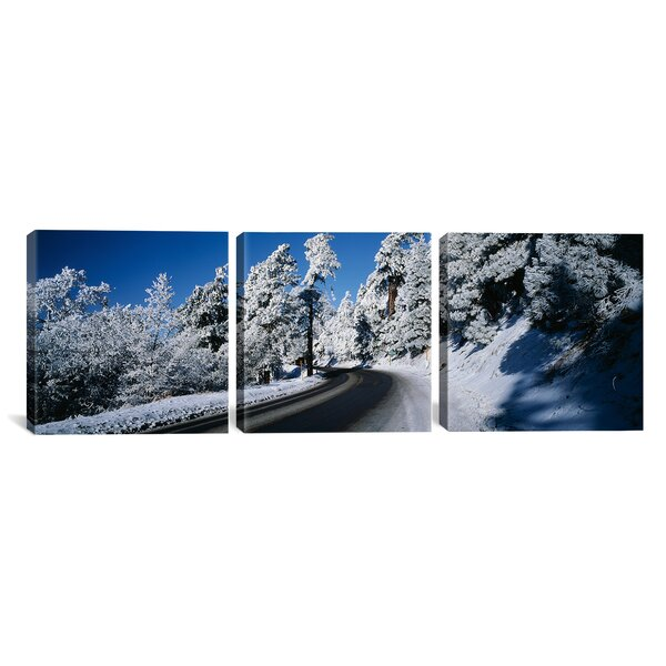 Lake Arrowhead, San Bernardino County, California 3 Piece Photographic Print on Wrapped Canvas Set by Latitude Run