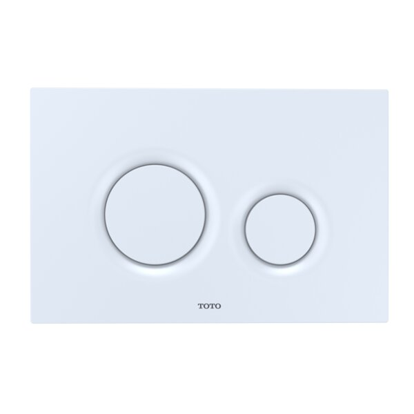 Dual Round Push Button Plate by Toto