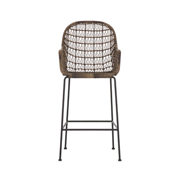 Morrissey Outdoor Woven Bar Stool by Bungalow Rose Bungalow Rose