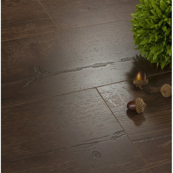 Legno 7 x 48 x 8mm Oak Laminate Flooring in Boston Dark Brown by Patina Design