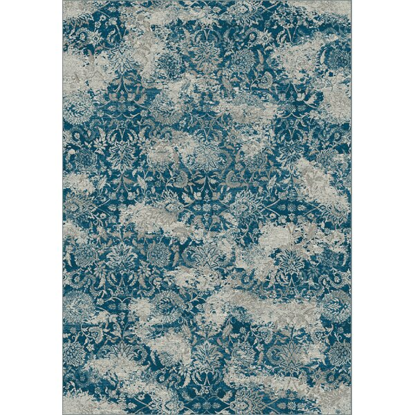 Deadra Gray/Blue Area Rug by World Menagerie
