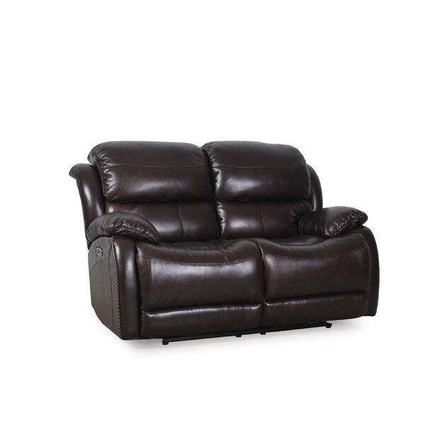 Kimpel Leather Reclining Loveseat by Red Barrel Studio