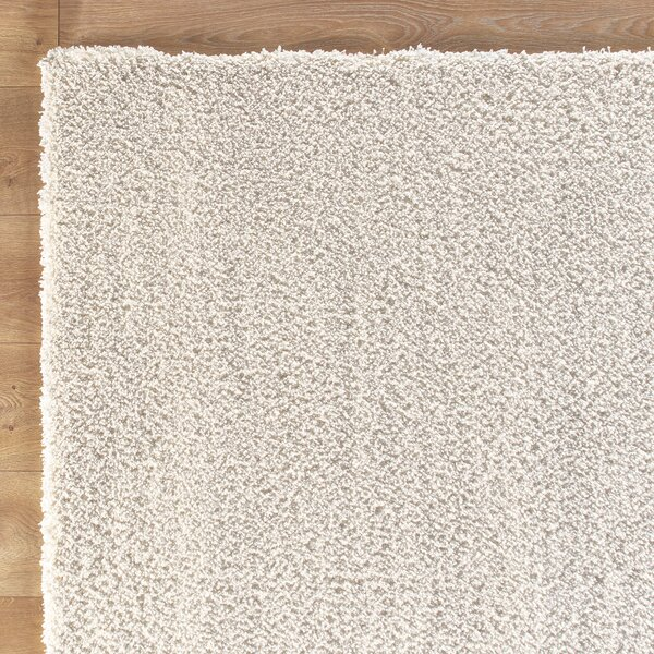 Shaggy Hand-Wovenv White Area Rug by Birch Lane Kids™
