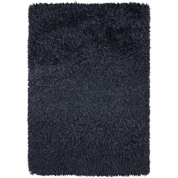 Bensonhurst Shag Navy Area Rug by Ebern Designs