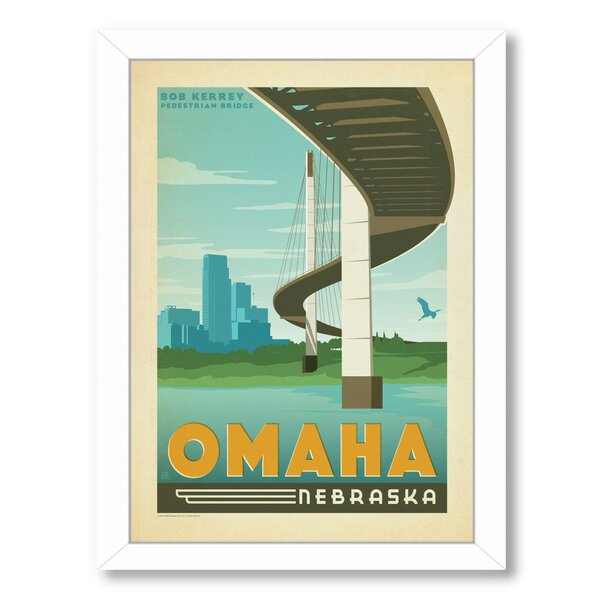 Omaha Nebraska Framed Vintage Advertisement by East Urban Home