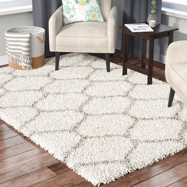 Marco Ivory/Gray Area Rug by Brayden Studio