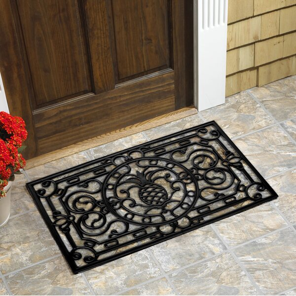 Ingram Pineapple Natural Rubber Doormat by Bay Isle Home