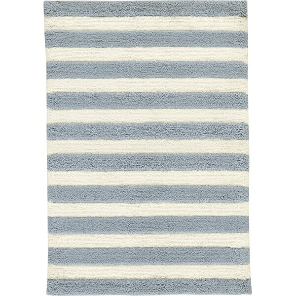 Hand-Woven Slate/IvoryArea Rug by Birch Lane™