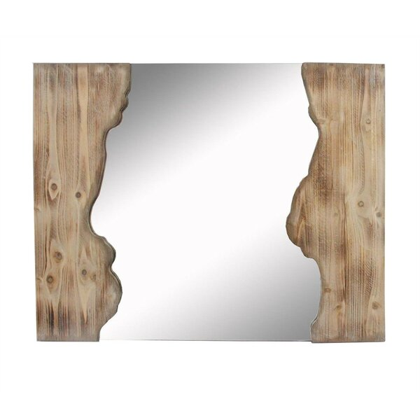 Petrone Decorative Irregular Wooden Accent Mirror by Union Rustic
