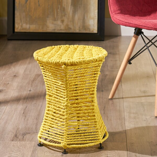 Zaria Cotton End Table by Ebern Designs
