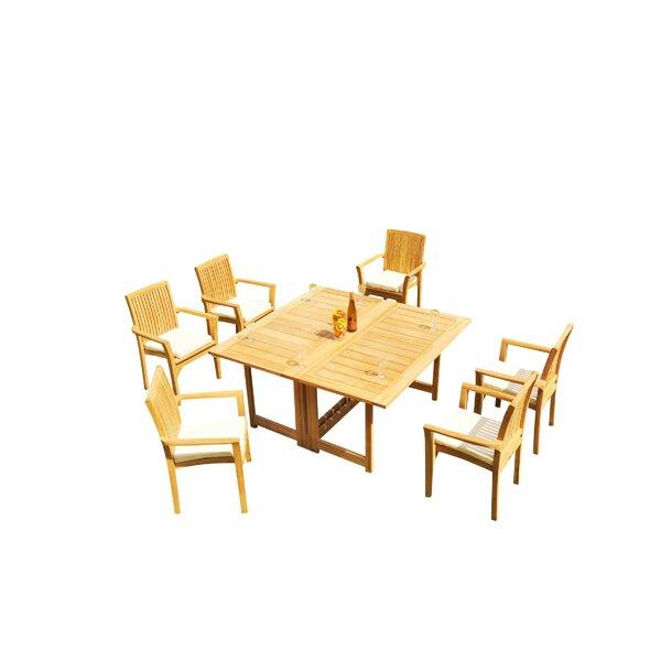 Massie 7 Piece Teak Dining Set