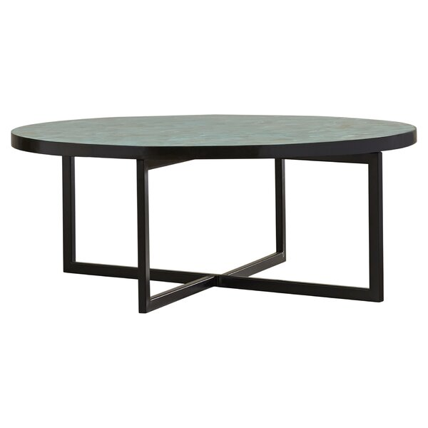 Abba Cross Legs Coffee Table By Rosecliff Heights