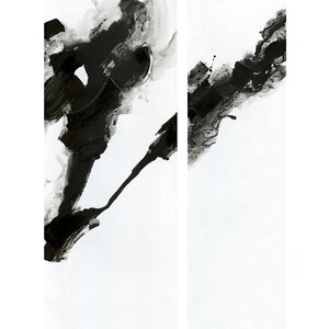 2 Piece Rorschach Painting Print on Canvas (Set of 2) by Wade Logan