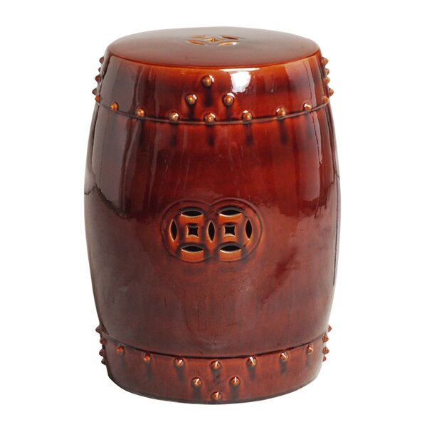 Drum Accent Stool by Emissary Home and Garden