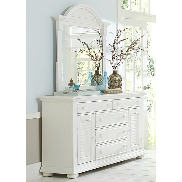 Dickens 5 Drawer Combo Dresser with Mirror by Beachcrest Home