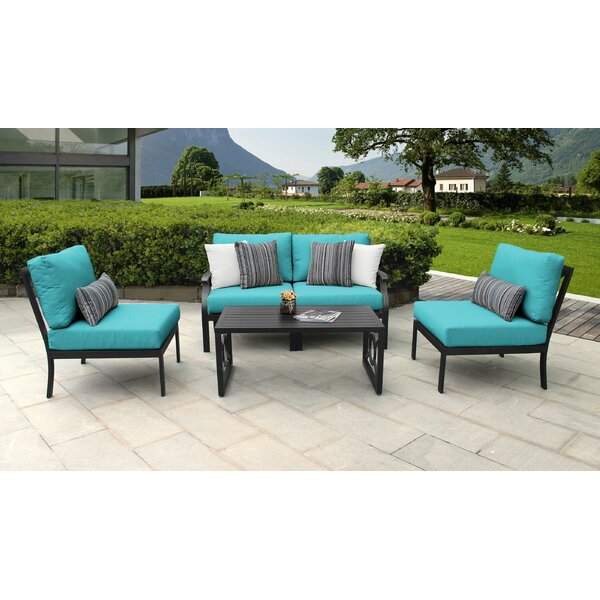 kathy ireland Madison Ave. 5 Piece Sectional Seating Group with Cushions by kathy ireland Homes & Gardens by TK Classics