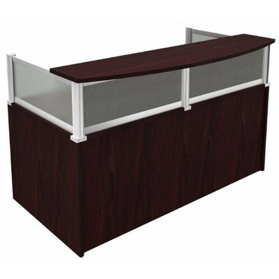 save to idea board mocha rectangular reception desk