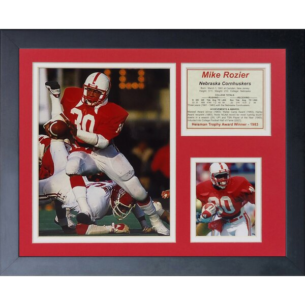 Mike Rozier Framed Photographic Print by Legends Never Die