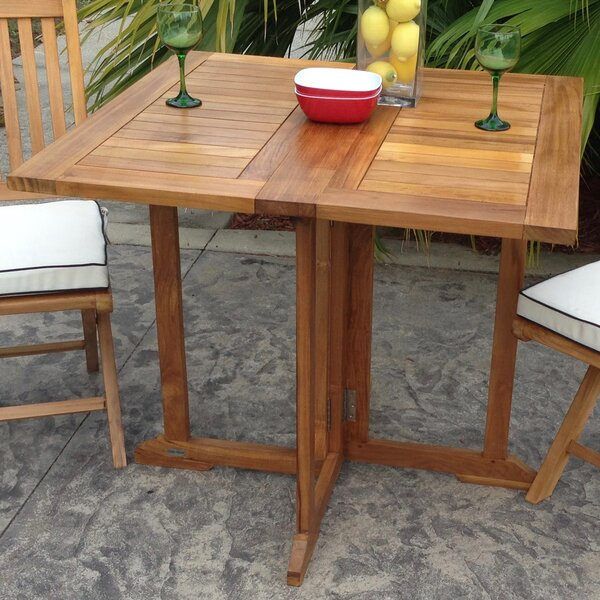 Warren Folding Wooden Dining Table By Bayou Breeze by Bayou Breeze