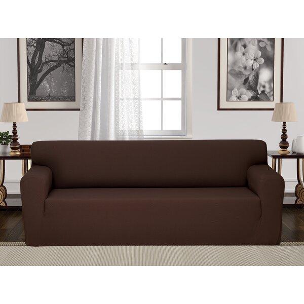 Anti-Slip Box Cushion Sofa Slipcover by Rebrilliant