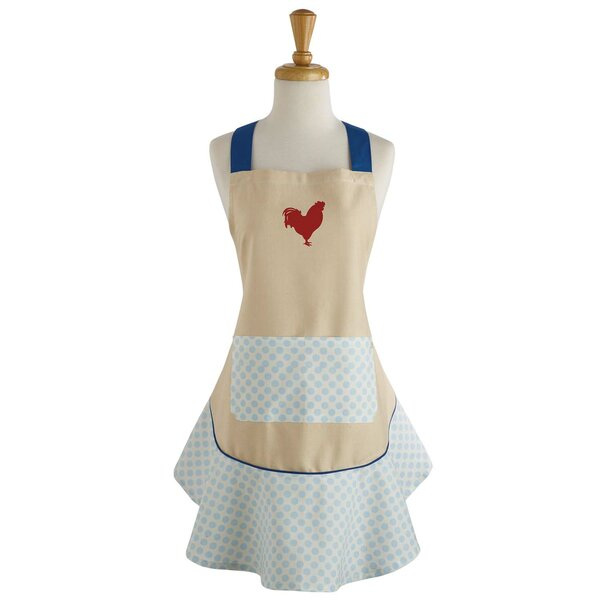 Rise and Shine Rooster Print Ruffle Apron by Design Imports