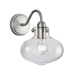 Reviews Wynsum 1-Light Armed Sconce By Breakwater Bay